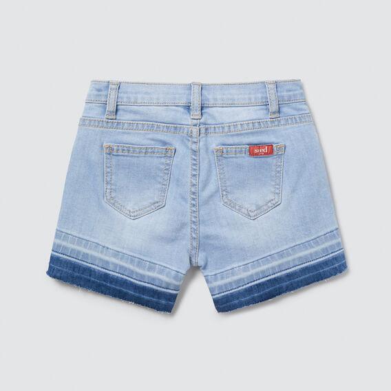 Exposed Hem Denim Short  SOFT BLUE WASH  hi-res