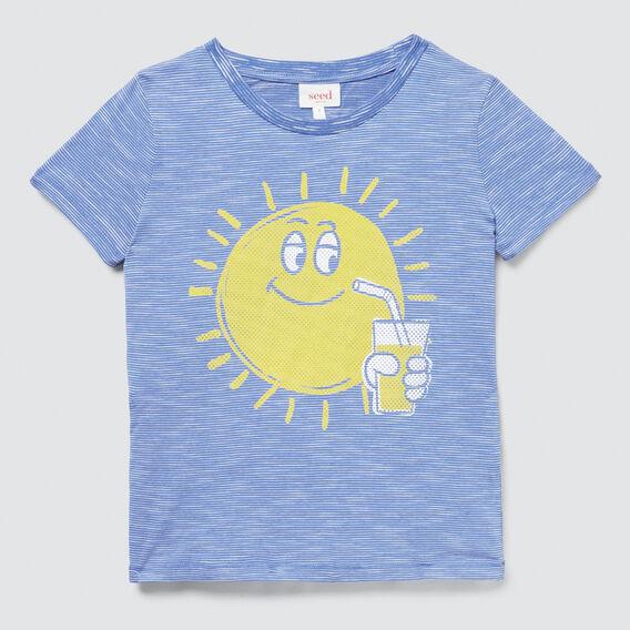 Sunny Print Tee  CORNFLOWER BLUE  hi-res