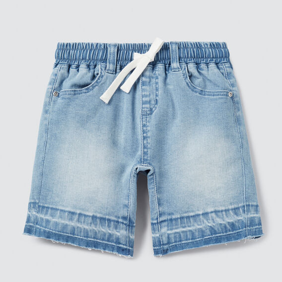 Raw Hem Denim Short  BLUE WASH  hi-res