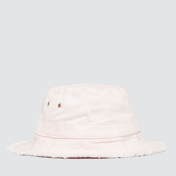 Frayed Brim Sun Hat  ICE PINK  hi-res