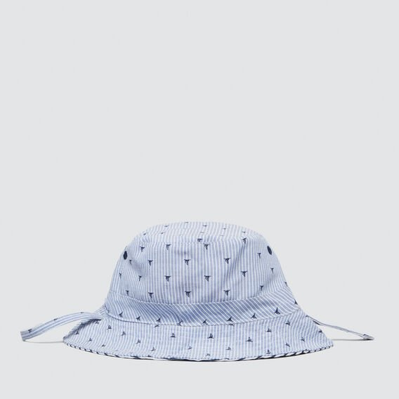 Yachts and Stripes Sun Hat  BLUE  hi-res