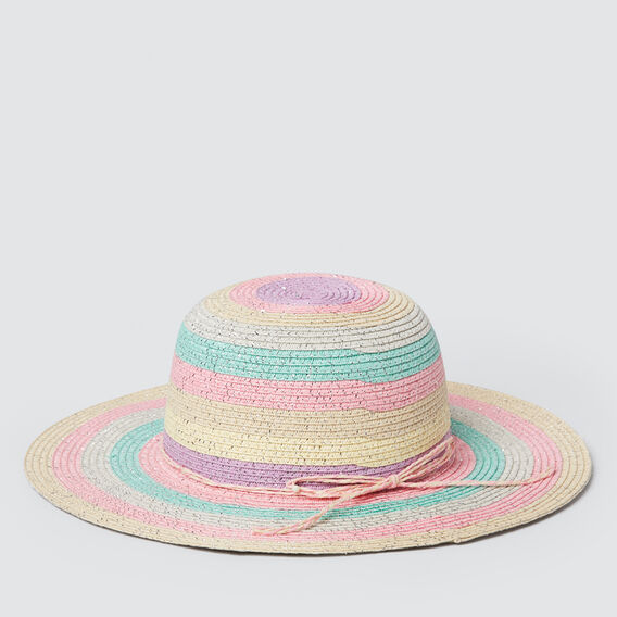 Bright Stripe Floppy Hat  MULTI  hi-res