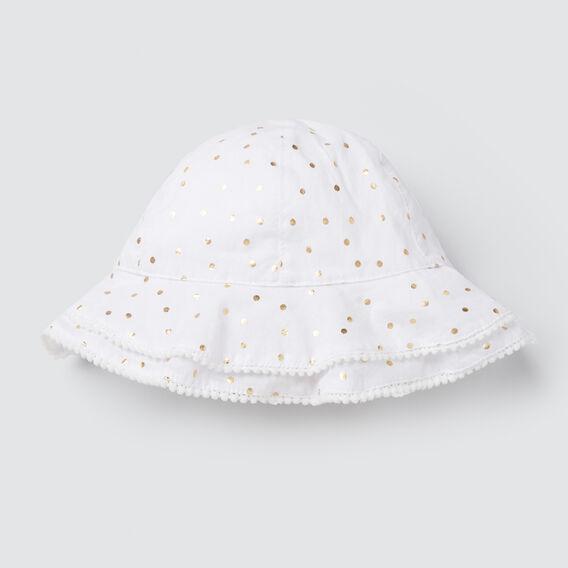Foil Spot Sun Hat  GOLD  hi-res