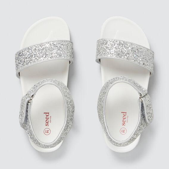 Glitter Strap Rubber Sandal  SILVER  hi-res