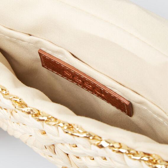 Belle Woven Clutch  GOLD/NATURAL  hi-res