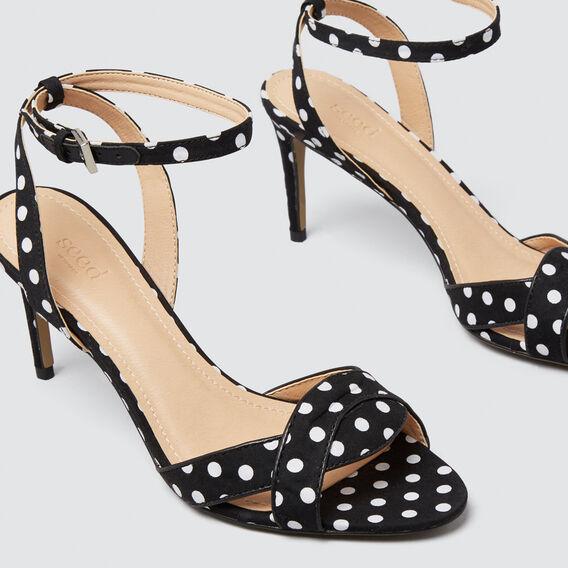 Minnie Polka Dot Heel  BLACK/WHITE  hi-res