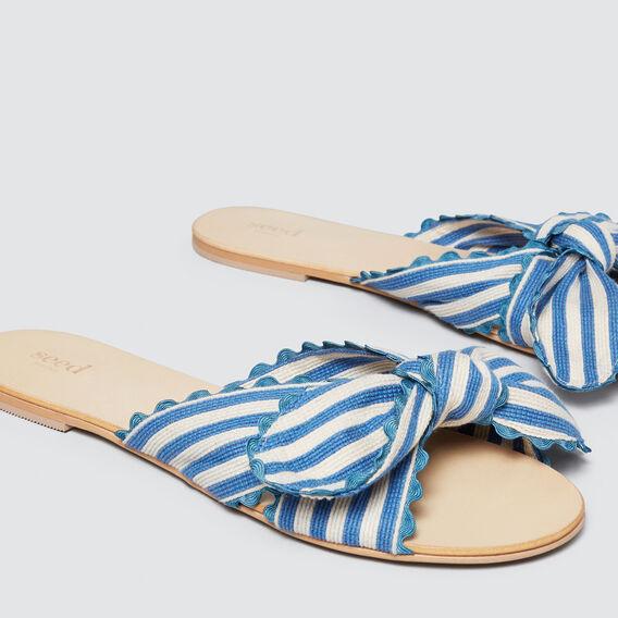 Bec Bow Slide  BLUE/CREAM  hi-res