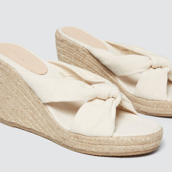 Polly Wedge Espadrille  CREAM  hi-res