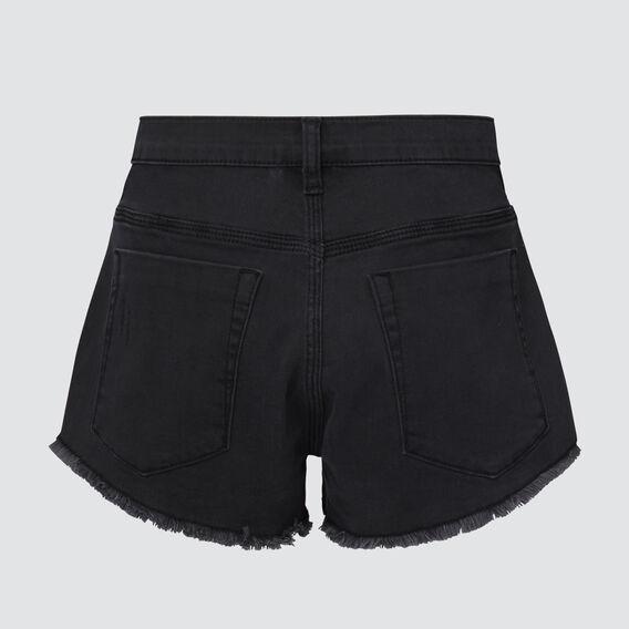Distressed Denim Short  WASHED BLACK  hi-res
