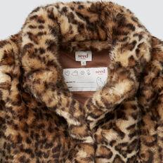 Ocelot Faux Fur Jacket  MULTI  hi-res