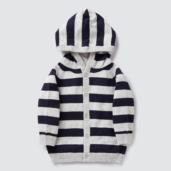 Jersey Lined Knit Hoodie  CLOUDY MARLE  hi-res