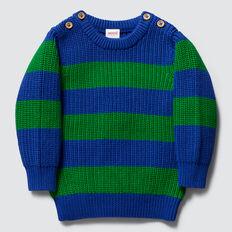 Stripe Knit Crew  DEEP COBALT  hi-res