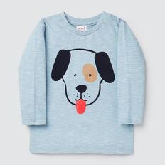 Stripe Puppy Tee  CLOUD BLUE  hi-res