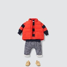 Cord Puffa Vest  FIRE ENGINE RED  hi-res