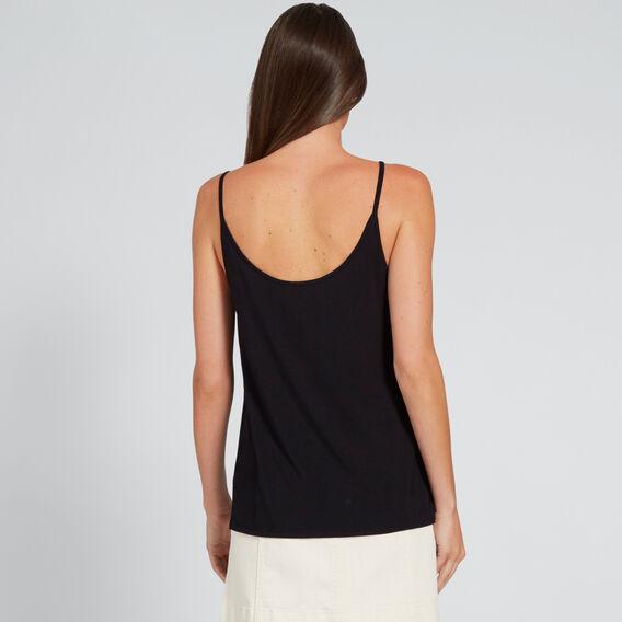 Two-Way Jersey Cami  BLACK  hi-res
