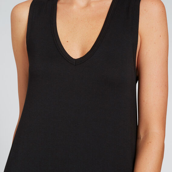 Longline Jersey Dress  BLACK  hi-res
