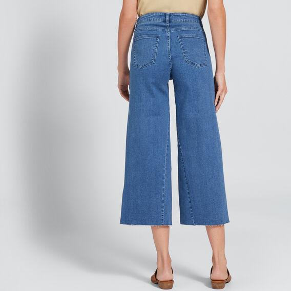 Raw Edge Wide Leg Jean  DEEP SEA DENIM  hi-res