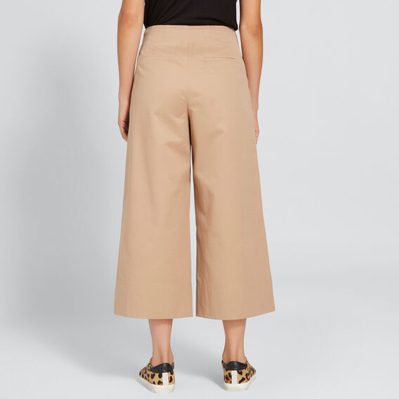 High Waist Culotte  LIGHT COCOA  hi-res