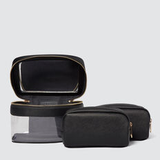 Cosmetic Case Pack  BLACK  hi-res