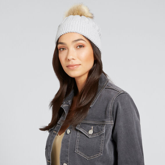 Simple Rib Beanie  GREY  hi-res