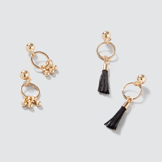 Mini Hoop and Tassel Pack  GOLD  hi-res