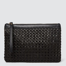 Woven Lila Pouch  BLACK  hi-res