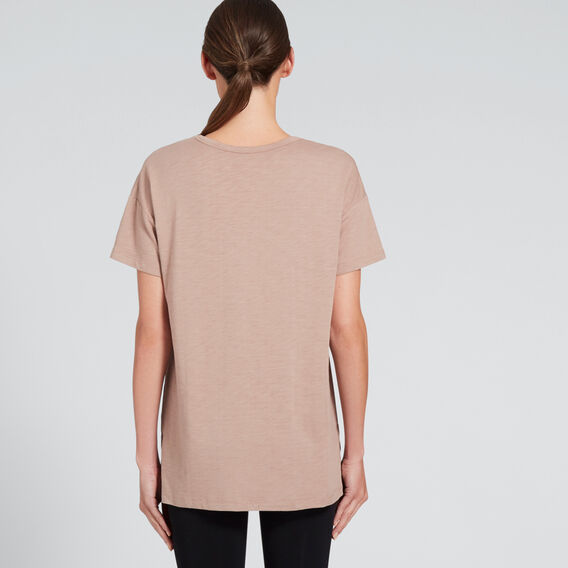 Short Sleeve Split Tee  MOCHA  hi-res