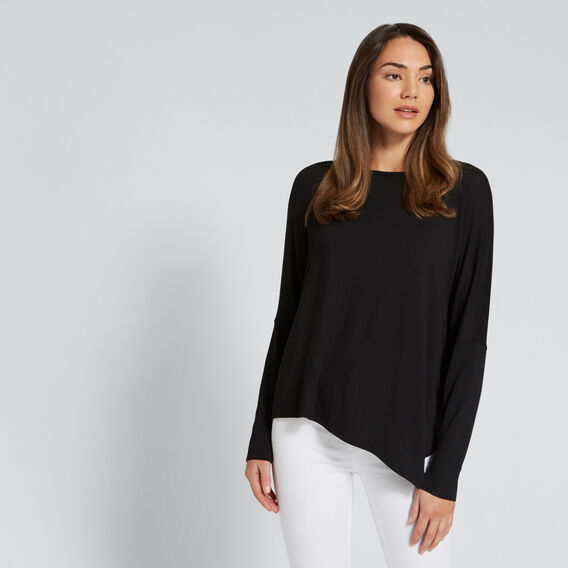 Asymmetrical Sweater  BLACK  hi-res