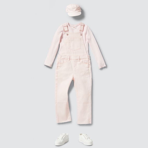 Long Denim Dungaree  ICE PINK  hi-res