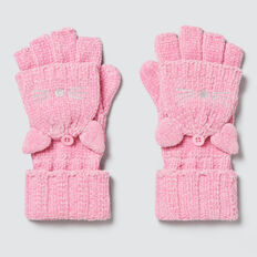 Chenille Cat Mittens  PINK BLUSH  hi-res