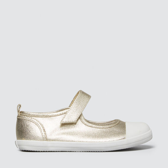 Toddler Canvas Mary Jane  GOLD  hi-res