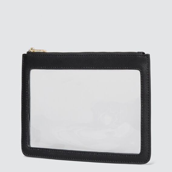 Clear Pouch  BLACK  hi-res