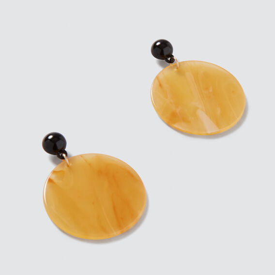 Resin Disc Earrings  HONEY  hi-res