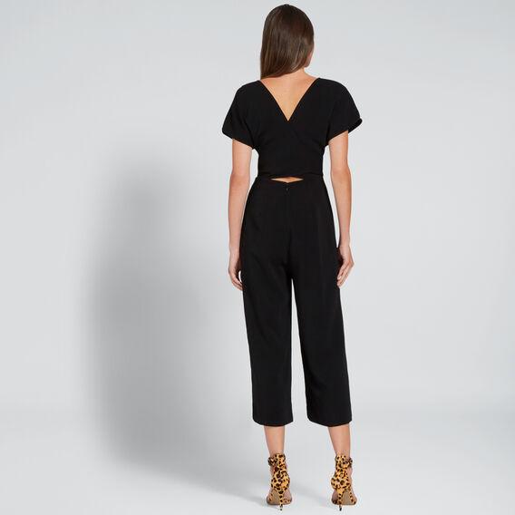 Wrap Front Jumpsuit  BLACK  hi-res