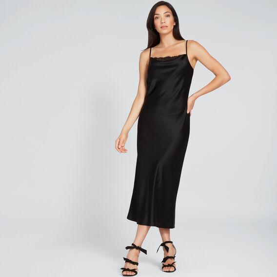 Lace Insert Dress  BLACK  hi-res