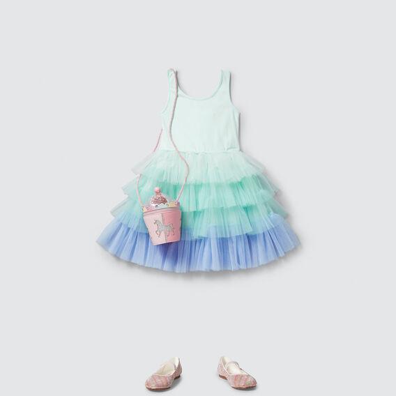 Ombre Tutu Dress  MINT GREEN  hi-res