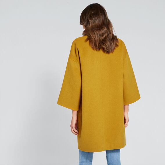 Reversible Coat  MUSTARD/TAUPE  hi-res