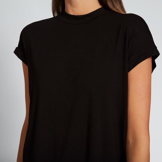 Mock Neck Tunic  BLACK  hi-res