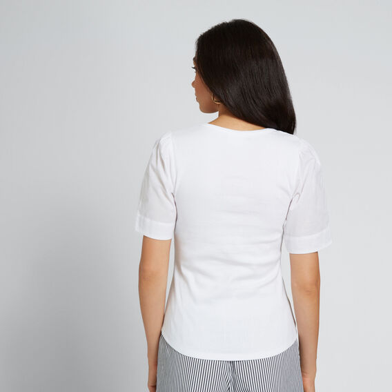 Blouson Sleeve Tee  WHISPER WHITE  hi-res
