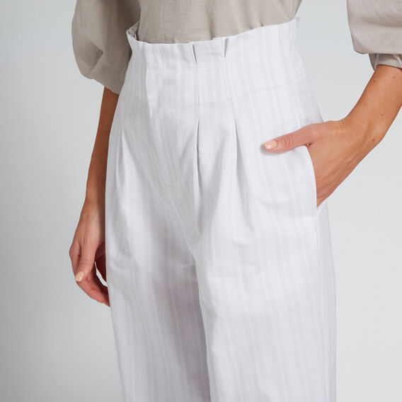 Pleated Waist Pant  GREY TAUPE STRIPE  hi-res