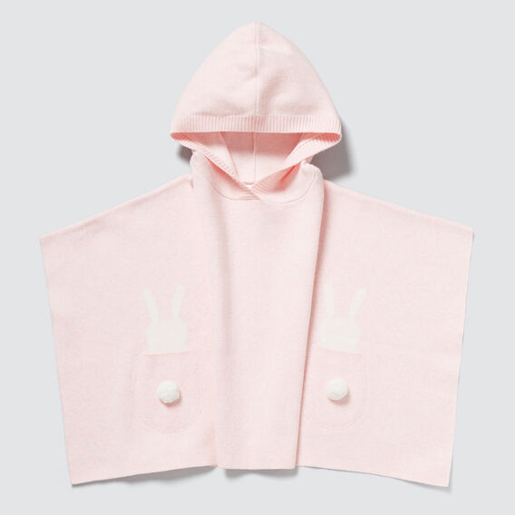 Bunny Pocket Poncho  ICE PINK MARLE  hi-res