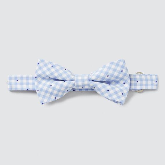 Gingham Bow Tie  BLUE  hi-res