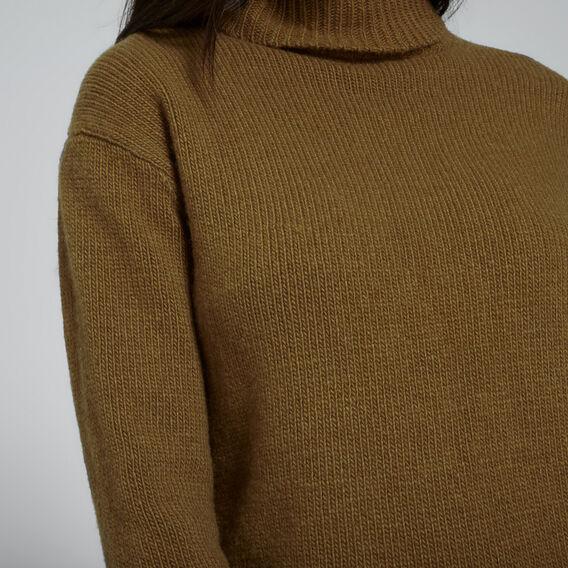 Cashmere Roll Neck Knit  DARK KHAKI MARLE  hi-res
