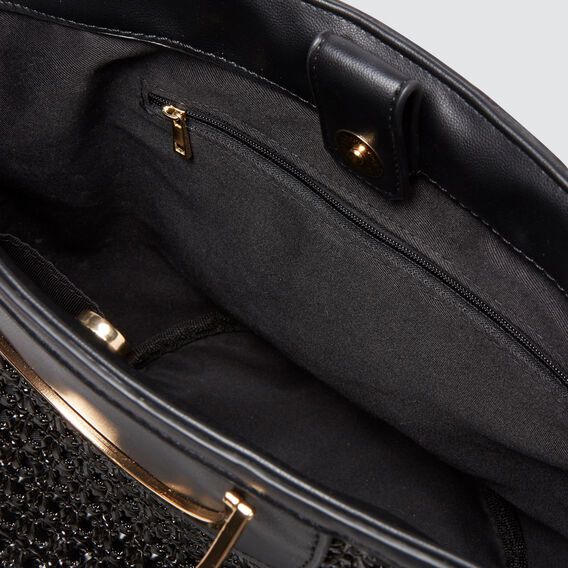 Ring Detail Tote  BLACK  hi-res