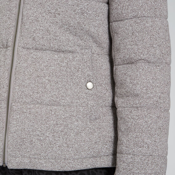 Jersey Puffer Jacket  SPECKLE GREY  hi-res