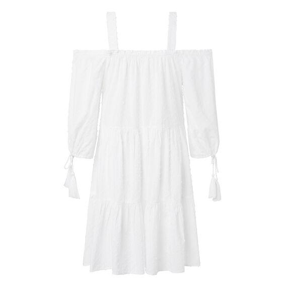 Dobby Resort Dress  WHITE  hi-res