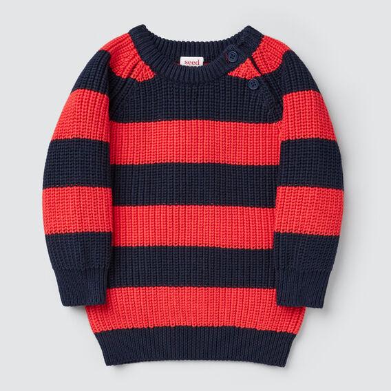 Raglan Stripe Knit  MIDNIGHT BLUE  hi-res