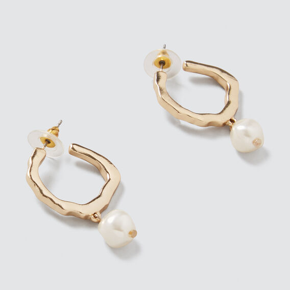 Pearl Hoops  GOLD  hi-res