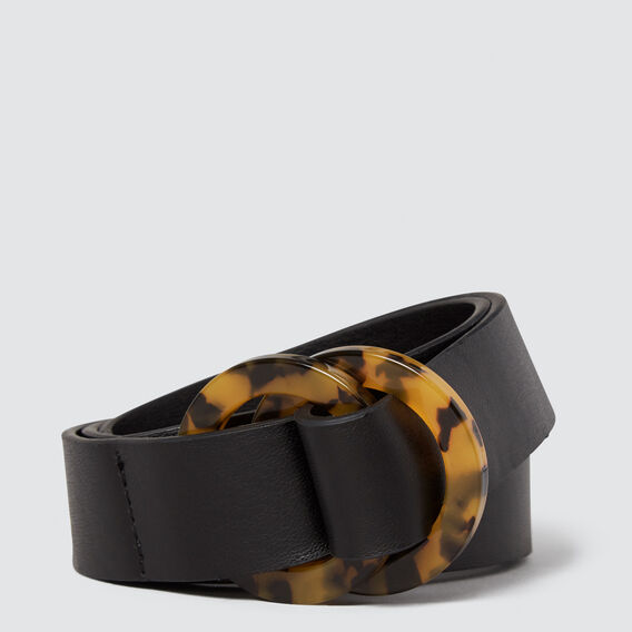 Tort Double Ring Belt  BLACK  hi-res