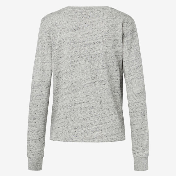 Knot Front Sweater  MID GREY MARLE  hi-res